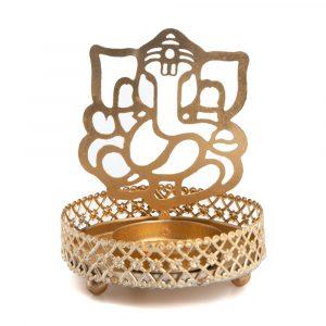 Tea Light Holder Ganesha (9 cm)