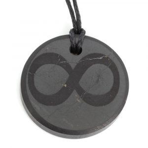 Shungite Pendant - Infinity (30 mm)