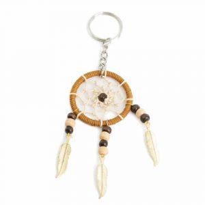 Key Chain Bohemian Dreamcatcher Hemp