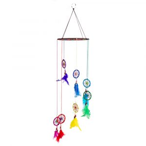 Wind Mobile with 7 Chakra Dream Catchers
