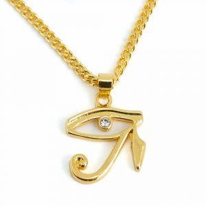 Amulet Gold Tone Eye of Horus (20 mm)