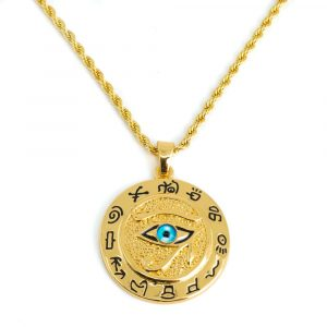 Amulet Gold Colored Eye of Horus (40 mm)
