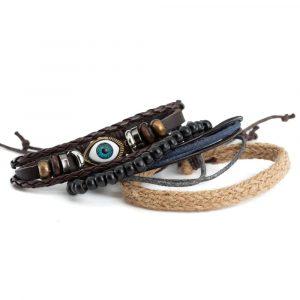 Bracelet Bohemian Evil Eye with Rope