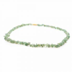 Gemstone Chip Necklace Green Aventurine (45 cm)