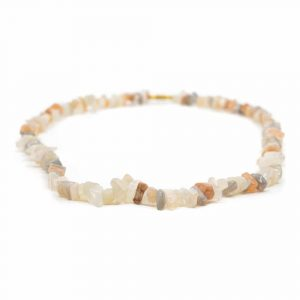 Gemstone Chip Necklace Multi Moonstone (45 cm)