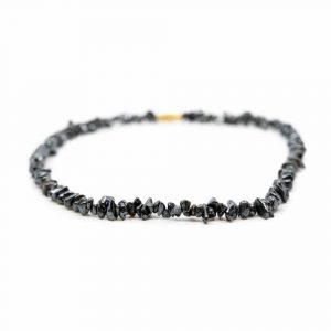 Gemstone Chip Necklace Hematite (45 cm)