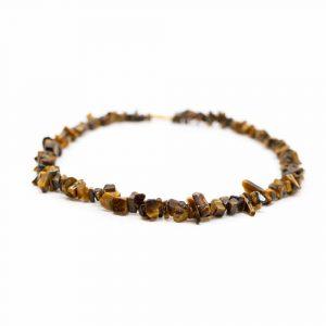 Gemstone Chip Necklace Tiger Eye (45 cm)