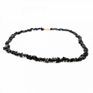 Gemstone Chip Necklace Black Tourmaline (45 cm)