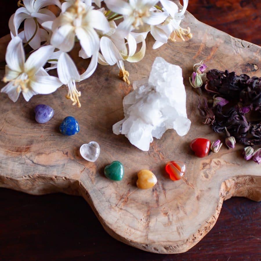 seven chakra tumbled gemstones