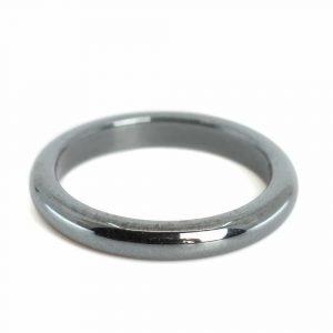 Gemstones Ring Hematite (3 mm - Size 15)