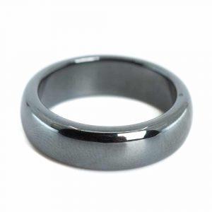 Gemstones Ring Hematite (6 mm - Size 17)
