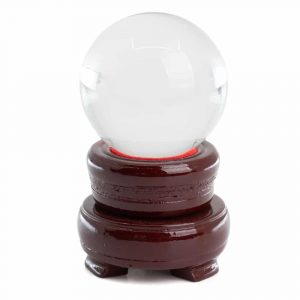 Feng Shui Crystal Ball with Wooden Base (50 mm)