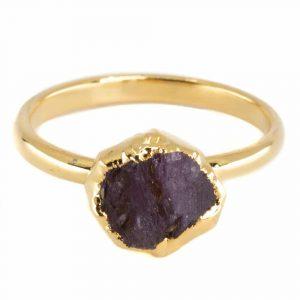 Birthstone Ring July Ruby - 925 Silver