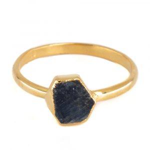 Birthstone Ring Raw Sapphire September - 925 Silver