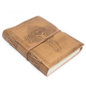 Handmade Leather Notebook Ganesha (17.5 x 13 cm)