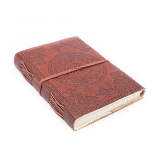 Handmade Leather Notebook Lotus OHM (17.5 x 13 cm)