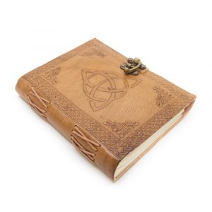Handmade Leather Notebook with Endless Knot (17.5 x 13 cm)