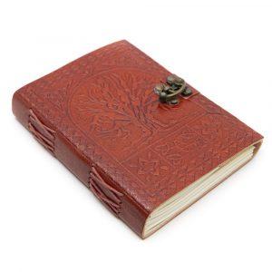 Handmade Leather Notebook Tree of Life (17.5 x 13 cm)