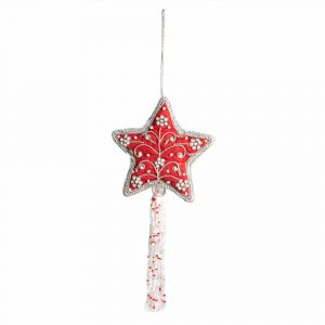 Pendant Ornament Traditional Star Red (26 cm)