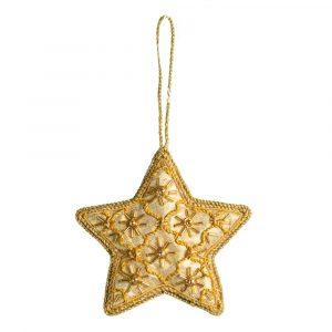 Pendant Ornament Traditional Star Yellow (17 cm)