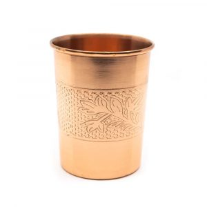 Copper Cup Decoration Etched (350 ml)