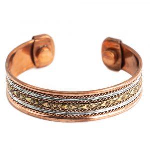 "Copper Magnet Bracelet ""Flowers"""