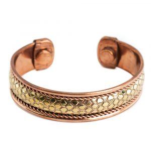 """Copper Magnet Bracelet """"Honeycomb"""""""