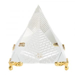 Crystal Pyramid Feng Shui with Foot (8 cm)
