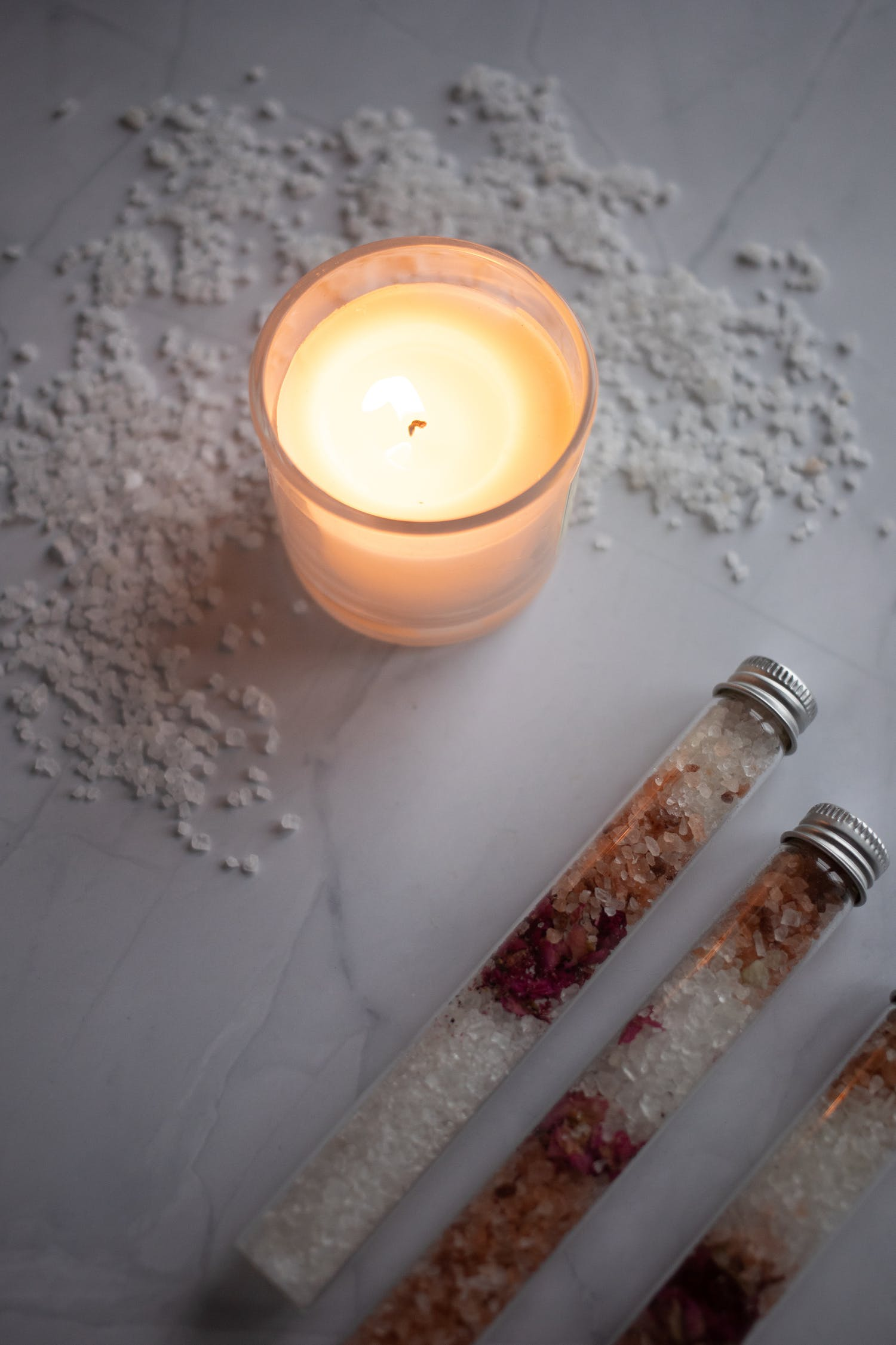 salt and candle
