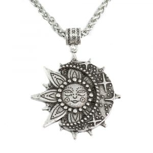 Talisman Solar and Celestial Necklace Silver Colored (35 mm)