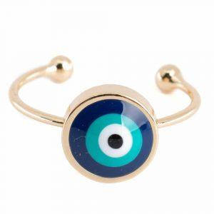 Adjustable Ring Evil Eye (10 mm)
