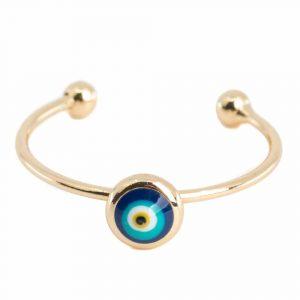 Adjustable Ring Evil Eye (5mm)
