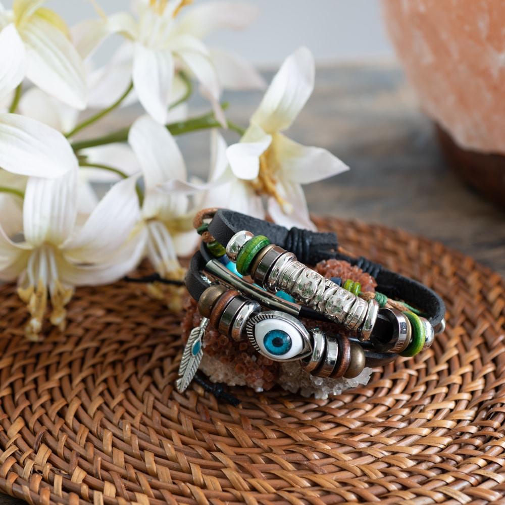 boho bracelets evil eye