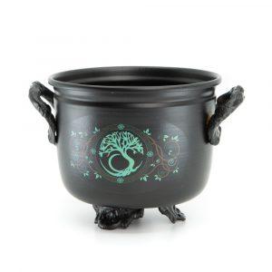 Witch Cauldron Green Tree of Life (11 Ø)
