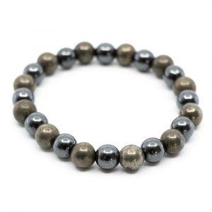 Gemstone Bracelet Pyrite and Hematite
