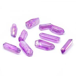 Gemstone Light Purple Aura Quartz Point 20 - 30 mm