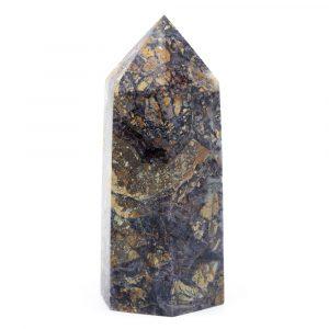 Gemstone Obelisk Point Jasper Breccie and Fluorite 80 - 100 mm