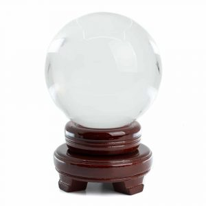 Feng Shui Crystal Ball with Wooden Base (100 mm)
