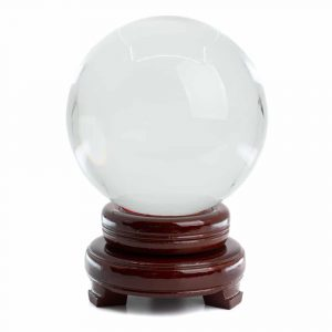 Feng Shui Crystal Ball with Wooden Base (120 mm)