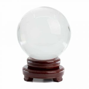 Feng Shui Crystal Ball with Wooden Base (150 mm)