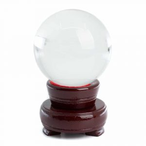 Feng Shui Crystal Ball with Wooden Base (60 mm)
