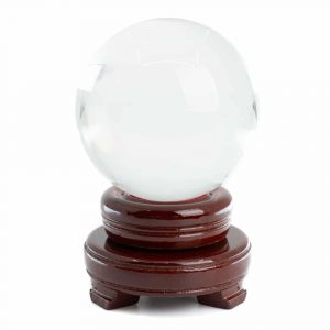 Feng Shui Crystal Ball with Wooden Base (80 mm)