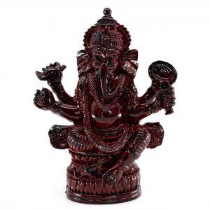 Ganesha Statue Dark Red (12 cm)
