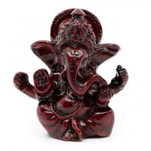 Ganesha Statue Dark Red (6 cm)