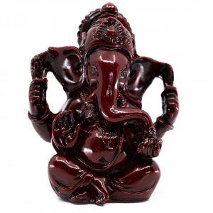 Ganesha Statue Dark Red (9 cm)