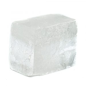 Raw White Calcite Gemstone Block 4 - 6 cm