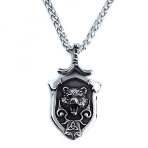 Viking Pendant Bear and Triquetra (50 mm)