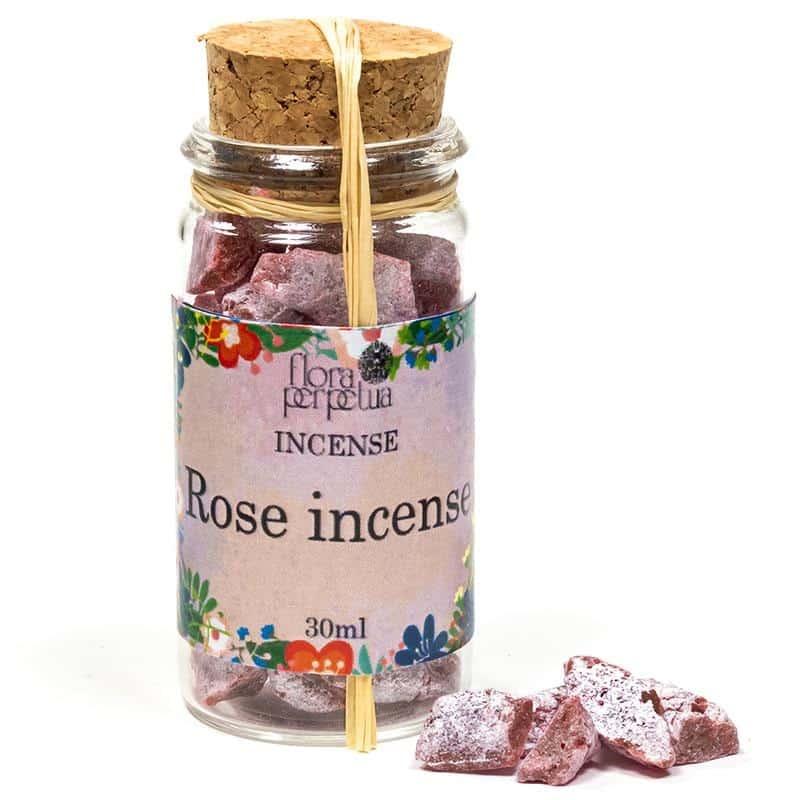 rose incense resin bottle