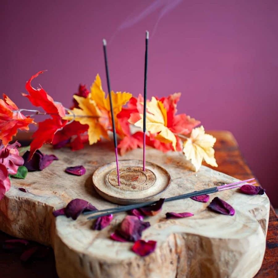 Incense stick holder round