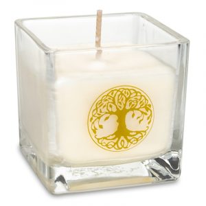 Rapeseed Wax Ecological Scented Candle Tree of Life - 6 x 6 x 6 cm